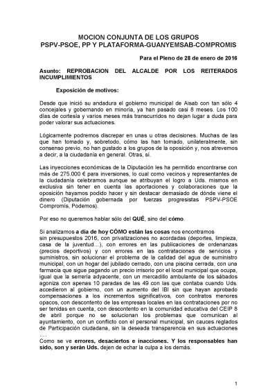 2 - MOCION REPROBACION DEL ALCALDE POR INCUMPLIMIENTO DE ACUERDOS DE PLENO Y RESPUESTAS A LOS ESCRITOS VF_Página_1