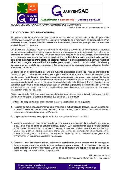 5.- Mejoras Carril Bici y aparcabicis