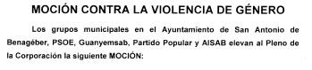 Cabecera Mocion conjunta contra Violencia de Género