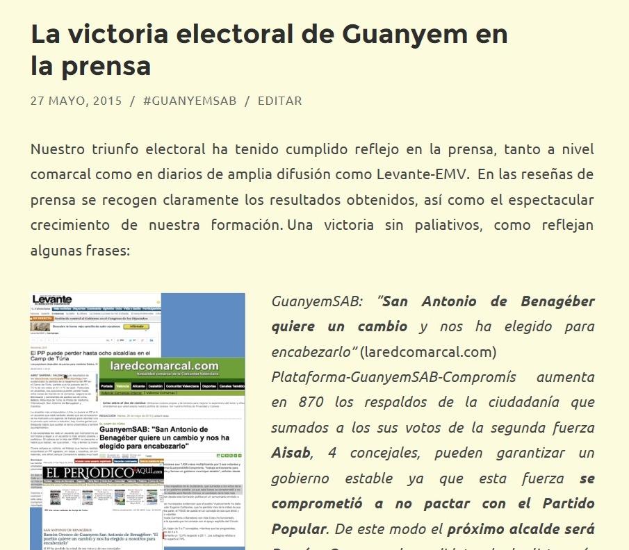 la victoria en prensa