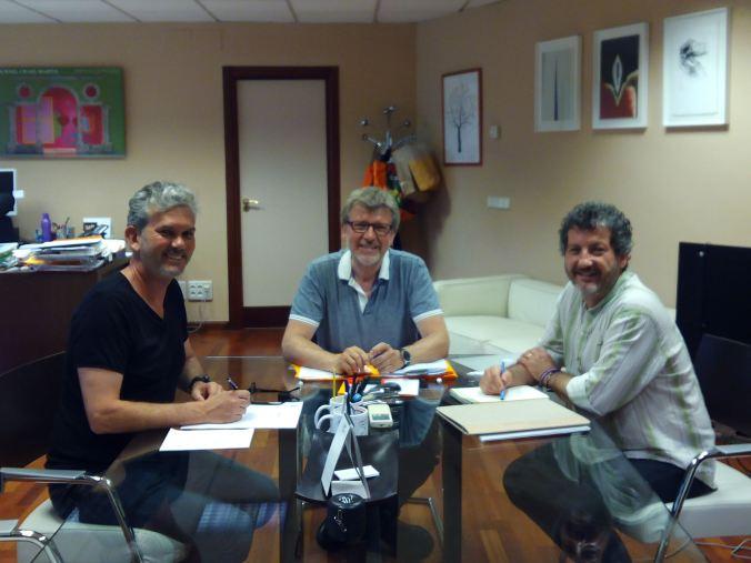 REUNION J. FULLANA, B. AGUILAR Y R. OROZCO