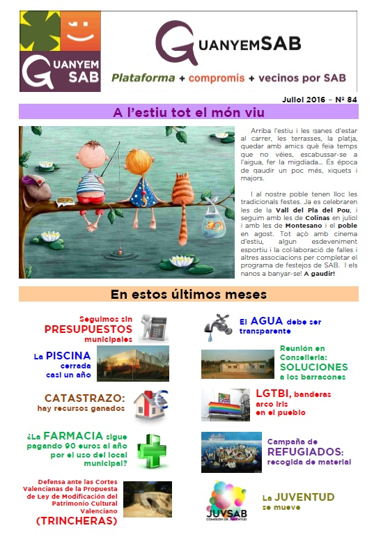 Revista julio 2016 portada